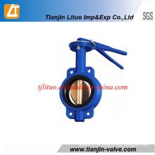 Tianjin fabricante Ferro fundido Wafer válvula de borboleta