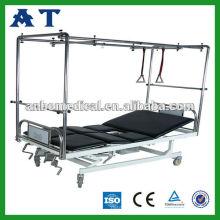 Hospital cama com potty-buraco seis função tração cama