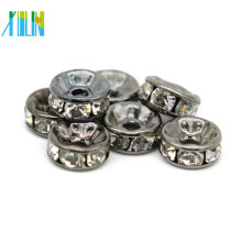 Ausgezeichnete Qualität Schwarz Bleikristall Perlen Schmuck Strass Spacer Perlen Großhandel