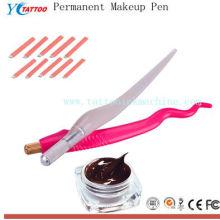 Arma de maquiagem permanente profissional de sobrancelha manual