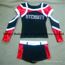 2017 nouveaux uniformes de cheerleading: style à manches longues