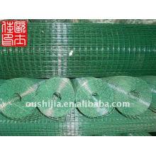Malha de arame soldada revestida de vinil e 1/2 polegadas de plástico revestido de malha de arame soldado