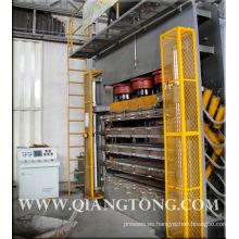 Presione la máquina para la piel de la puerta del hdf / la prensa caliente de la piel de la puerta de la chapa de HDF
