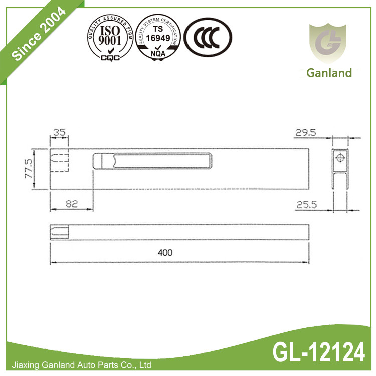 Vertical Dropside Locks 2 GL-12124
