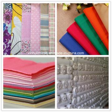 100 % coton tissu / tissu/Poly-coton tissu T/C /Cotton fil de lin tissu imprimé / tissu Poly