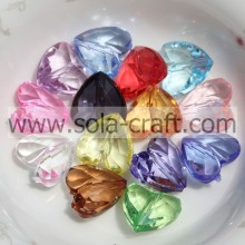 8*12*12MM Clear Colors  Jewelry Heart Beads Wholesale""