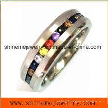 Bague à doigts à bijoux pour bijoux multi couleurs élastiques (CZR2557)