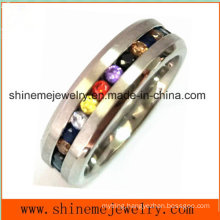 Hot Selling Multi Colors Stones Jewelry Finger Ring (CZR2557)