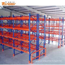 Bastidores de almacenamiento de plataforma de acero resistente recubiertos de polvo