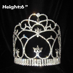 6in All Clear Crystal Pageant Crowns