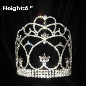 6 en todas las coronas de concurso de cristal transparente