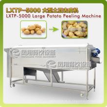 Lavadora de legumes espiral super-enorme tipo & descascador, batatas de lavagem, máquina de descascar Lxtp-5000