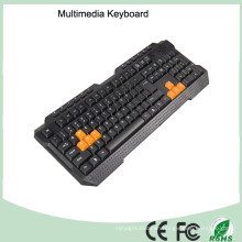 ABS Materials Wired Type Ergonomics Multimedia Computer Game Keyboard (KB-1688M-O)