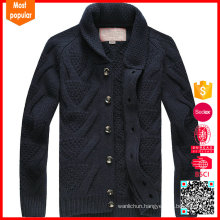 Fashion knitted cashmere wholesale cardigans men's sweater