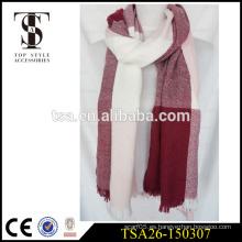 2016 nueva bufanda de acrílico tejida de la tela cruzada de la tela cruzada de la tela cruzada grande barata barata del diseño