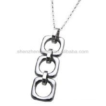Stainless steel interlink necklace pendants the women fashion jewellery