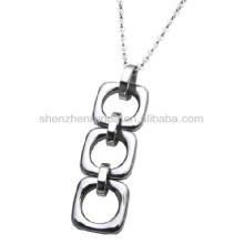 Aço inoxidável interligar colar pingentes as mulheres moda jóias