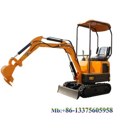 Exportieren Sie 1,2 Tonnen Haushalts-Hydraulik-Minibagger mit Schwenkausleger