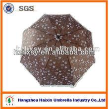 Chocolate Color Full Body 3 Foldable Parasol Umbrella