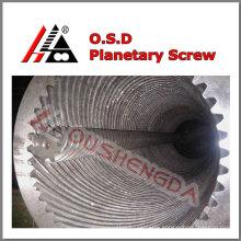 1200kg/h output planet screw barrel for pvc sheet extrusion