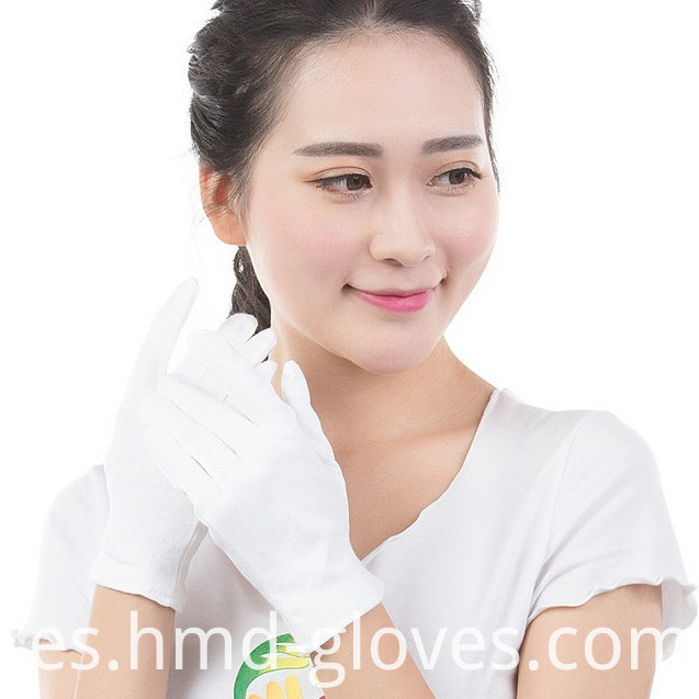 White Cotton Gloves Hmd
