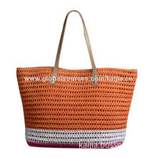 2014 new women's handmade paper bag colorful stripes, suitable for summer