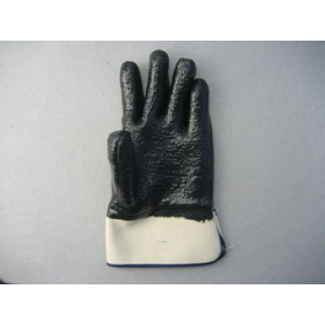 Black Neoprene Safety Cuff Gloves with Terry Cloth Liner (5345)