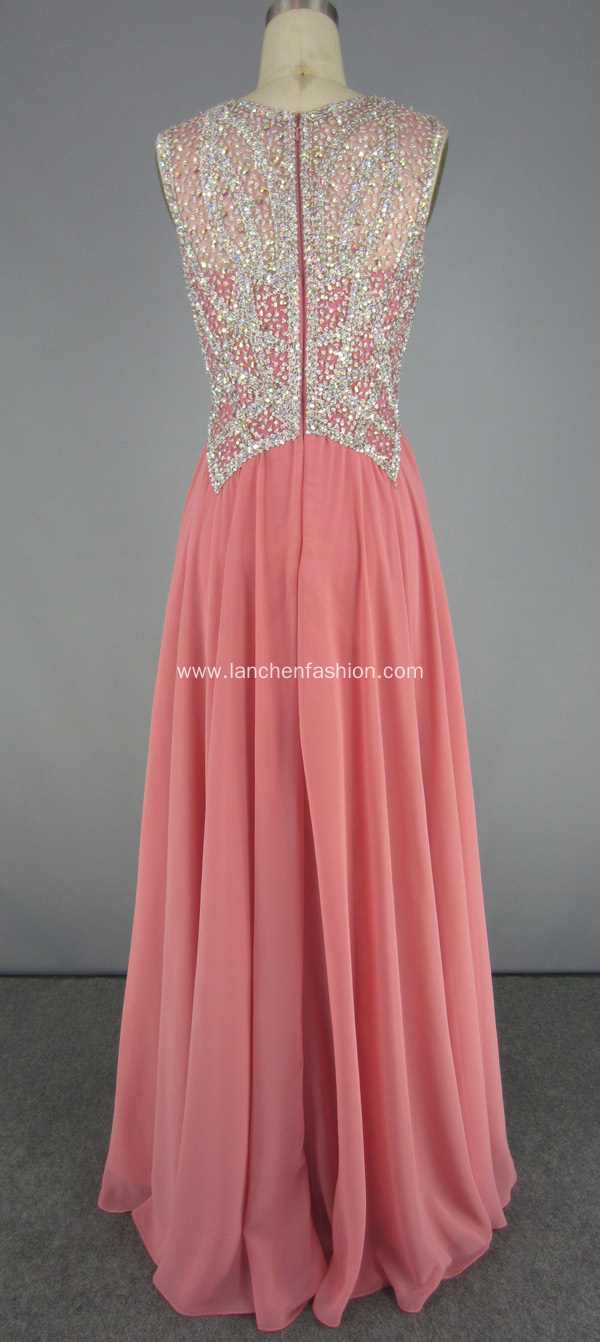 New Style Beading Bridesmaid Dress Prom Gown