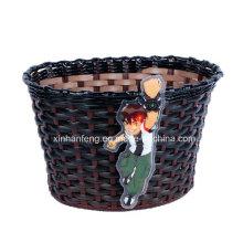 Good Quality Carton Design Plastic Kids Bicycle Basket (HBK-143)