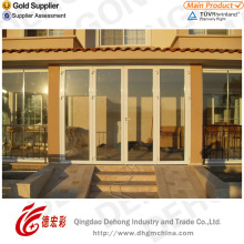 Hot Sale Single Glass/Double Tempered Glass PVC Door