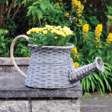 Planteur de décor de plein air Poly Rattan - Poterie