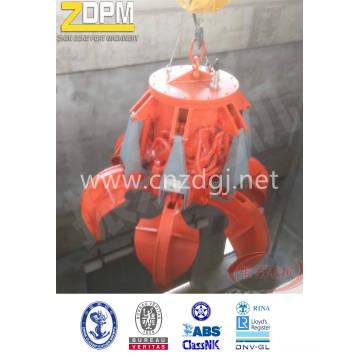 Elétrica hidráulica laranja garra para barcaça de manipulação Material