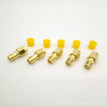 Connecteur haute fréquence SMA femelle vers SMA mâle adaptateur RF pour câble coaxial