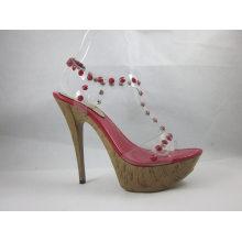 Nueva colección Fashion Design Ladies Sandalia (HCY03-068)