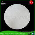 Weißer runder Marmorsteinkuchenstand