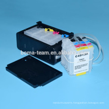 Bulk ink system with ink cartridge and auto reset chip for hp 10 82 ciss system for hp designjet 500 500ps 800 800