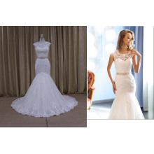 Robes de mariée col en dentelle
