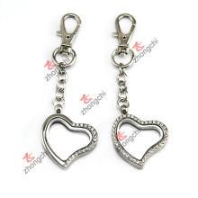 Porte-clés pendentif en forme de coeur flottant pour cadeau promotionnel (LK116)
