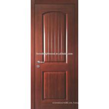 Teca de pre-acabado chapeada moldeado puerta