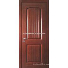 Teak prefinished folheado moldado porta