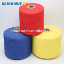 China yarn supplier high quality Ne 6s dyed recycle cotton yarn for kntting gloves