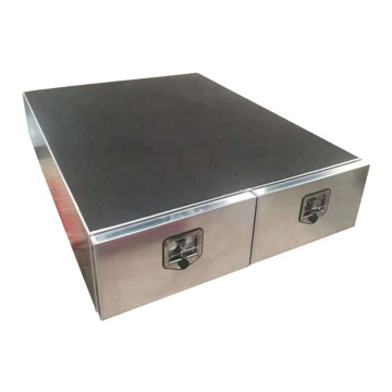 Cajón de aluminio de dos puertas para almacenamiento UTE / camión