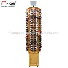 Cuidado Acerca de los Valores de Displays para nuestros clientes Floor Standing Gafas Optical Shop Gafas de sol de madera Display Stand
