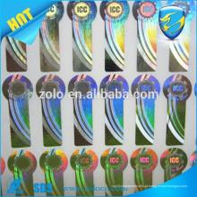 Elegante Custom design roll etiqueta de holograma 3d / abrangente etiqueta contra falsificação