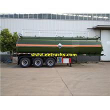 รถเทรลเลอร์สำหรับการจัดส่งกรดไฮโดรคลอริกขนาดใหญ่ 30m3
