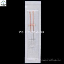 Aiguilles d'acupuncture avec poignée en cuivre (AFB2-1) (2 aiguilles dans une éponge chirurgicale)