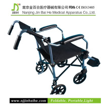 Silla de ruedas manual de aluminio plegable para pacientes