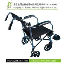 Cadeira de rodas manual de alumínio dobrável para paciente