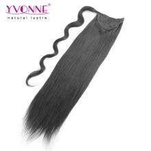Extensões de rabo de cavalo de cabelo humano de qualidade superior