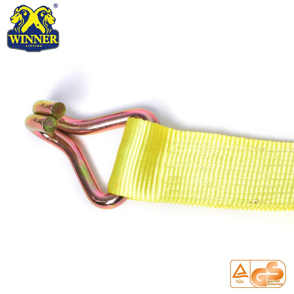 Polyester Ratchet Tie Down Strap For Container Strapping